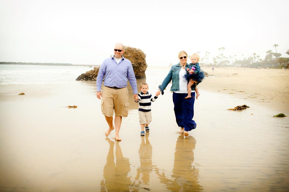 leisurely stroll on the beach