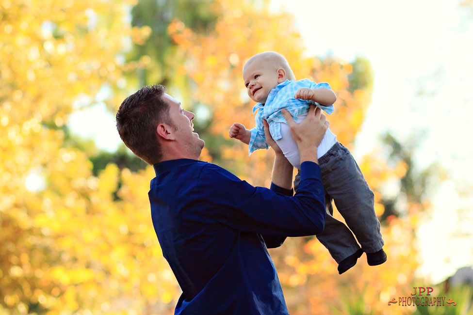 father and son portrait photo
