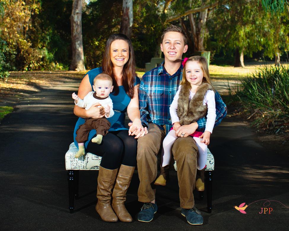 Holiday Family photo at Huntington Beach Central Park
