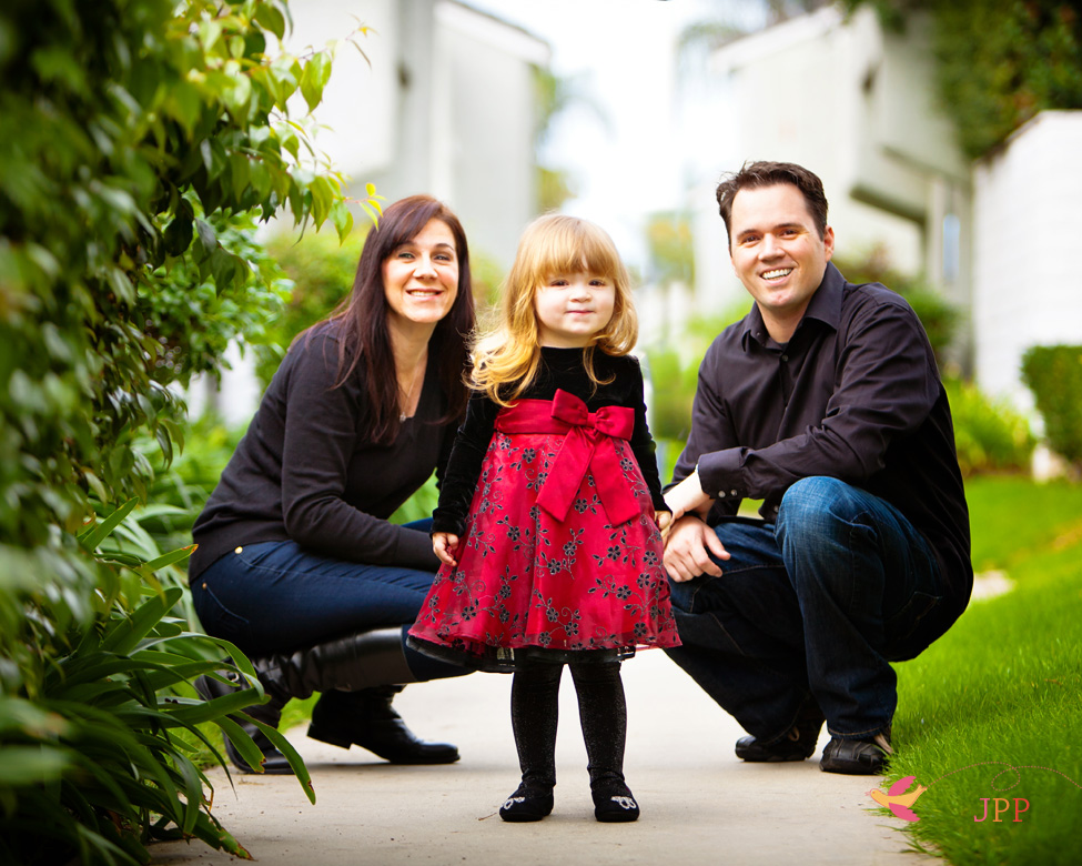 Family Holiday Portrait in Orange County
