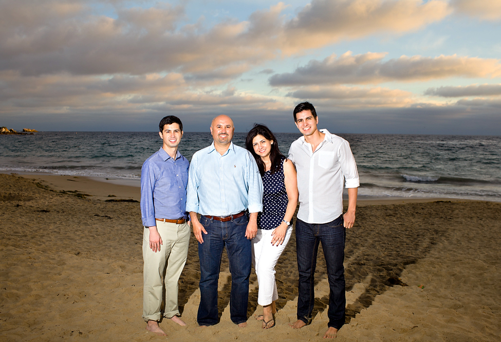 Family Christmas photos at the beach in Orange County