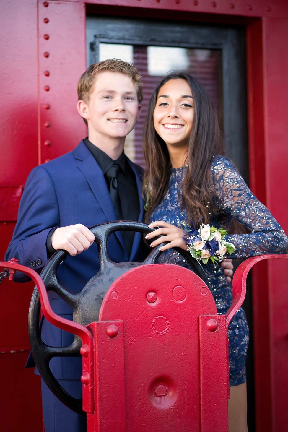 red train homecoming photos